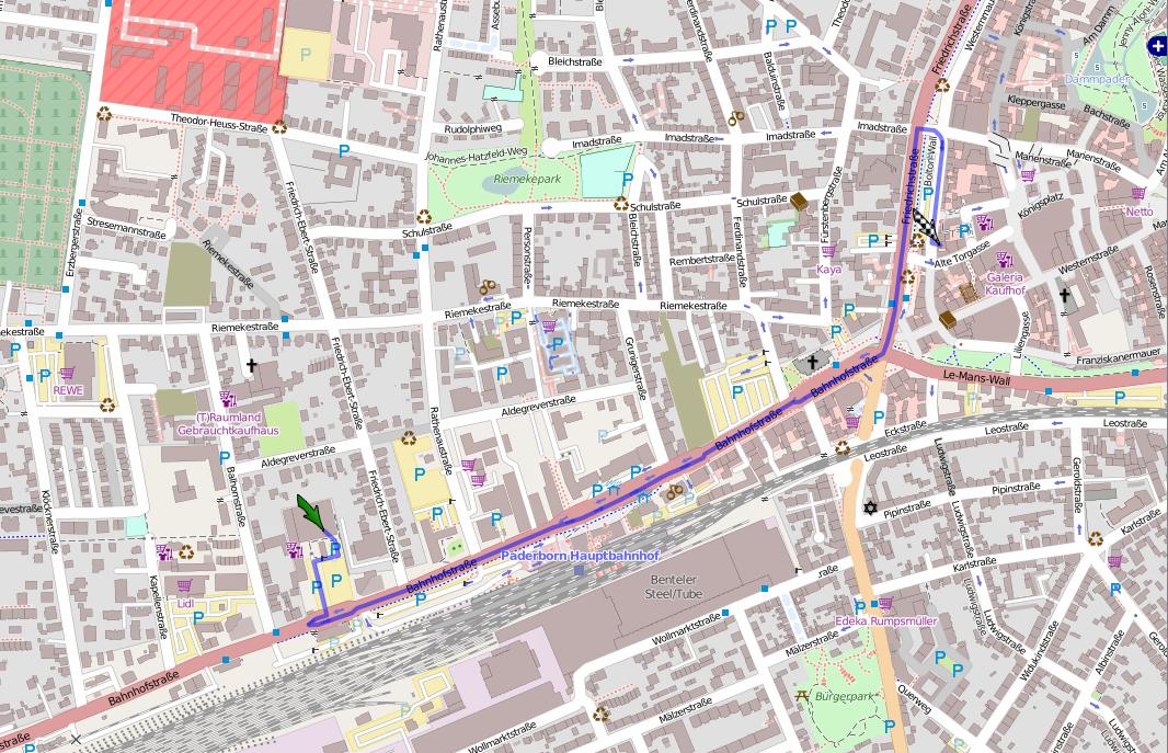 Karte von Kulturwerkstatt zur Westernmauer